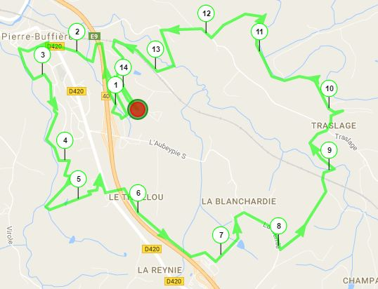Parcours 14 km 2016