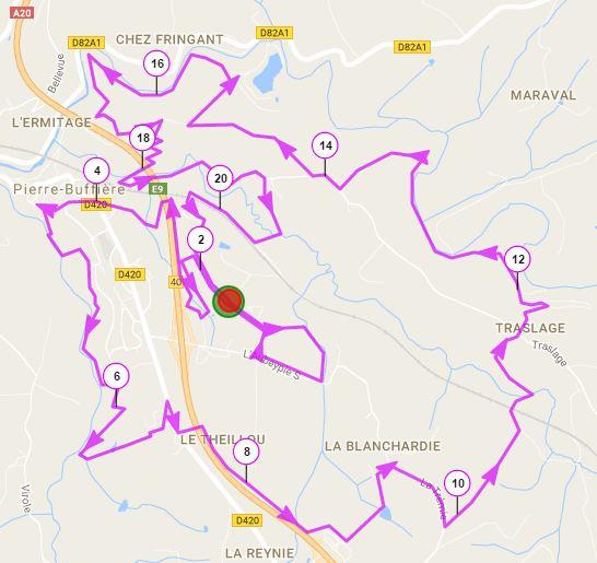 Parcours 21 km 2016