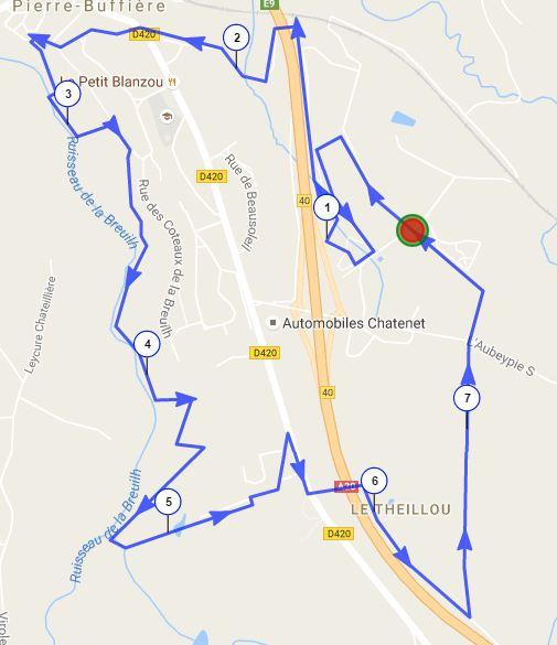 Parcours 7 km 2016